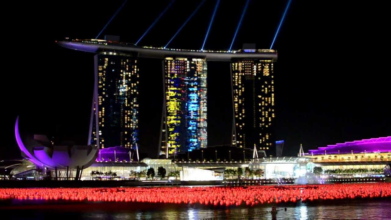 HD Marina Bay Sands Laser Show Light Show Singapore YouTube