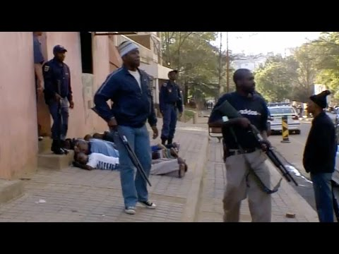 Shots Fired! Lawless Streets Of Johannesburg - Louis Theroux: Law and Disorder In Johannesburg - BBC