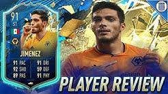 91 TEAM OF THE SEASON SO FAR JIMENEZ PLAYER REVIEW! TOTSSF JIMENEZ - FIFA 20 ULTIMATE TEAM