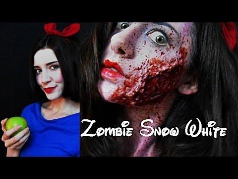 Zombie Snow White SFX Makeup With My Boyfriend! - YouTube