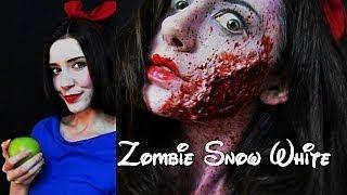 Zombie Snow White Halloween Makeup!