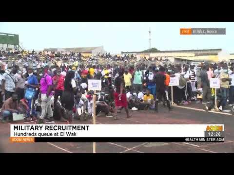 Military Recruitment: Hundred queue at EL Wak Sports Stadium- Premtobre Kasee on Adom TV (19-7-21)