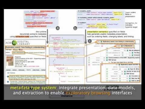 Metadata Type System Enabling Dynamic Exploratory Browsing Interfaces