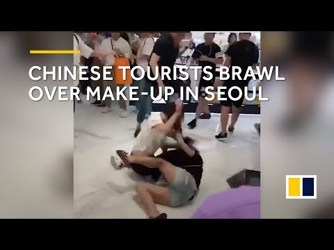 Chinese tourists brawl over duty-free make-up in Seoul, South Korea