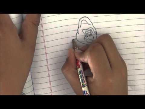 Entertainment - Kids Pencil Drawing - Draw a Gorilla