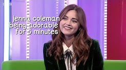 jenna coleman being adorable for 5 minutes straight