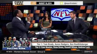 ESPN First Take   Should Cam Newton Have Been In Tier 1 QB