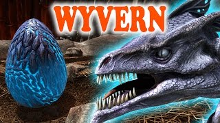 "ARK Scorched Earth - HOW TO ""TAME"" WYVERNS, FINDING EGGS & MILK, HOW TO KILL ALPHA WYVERN - Gameplay"