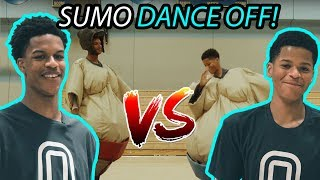 Shareef O'Neal & Lil' Bro Shaqir Have SUMO DANCE OFF! Who's Got The Best Moves In SHAQ'S FAM!?