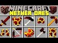 Minecraft NETHER ORES MOD l CRAFT NEW WEAPONS, ARMOR, MOBS & MORE! l Modded Mini-Game