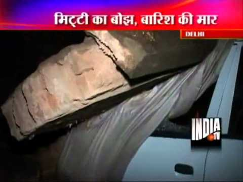 AIIMS  Compound Wall Collapses Crushing 8 Cars