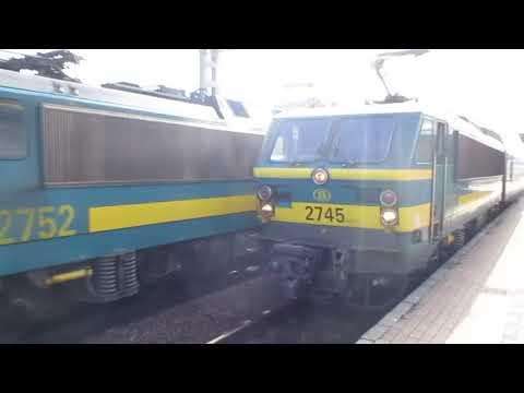 Belgium: Braine L'Alleud, Four SNCB Class 27 Electric Locos Working 'top & Tail' Passenger Trains