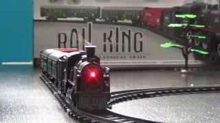 Kolejka elektryczna z dymem - Rail King - 110cm długości