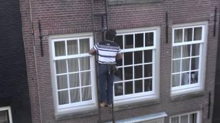 Промышленный альпинизм,мойщик окон в Амстердаме(, 2013-12-05T23:54:29.000Z)
