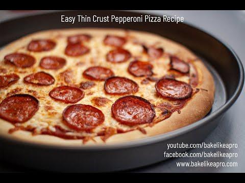 Easy Thin Crust Pepperoni Pizza Recipe 4k