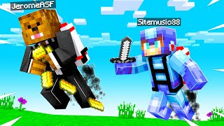 Using Jet-Packs To Loot In Minecraft Chest Scramble | JeromeASF