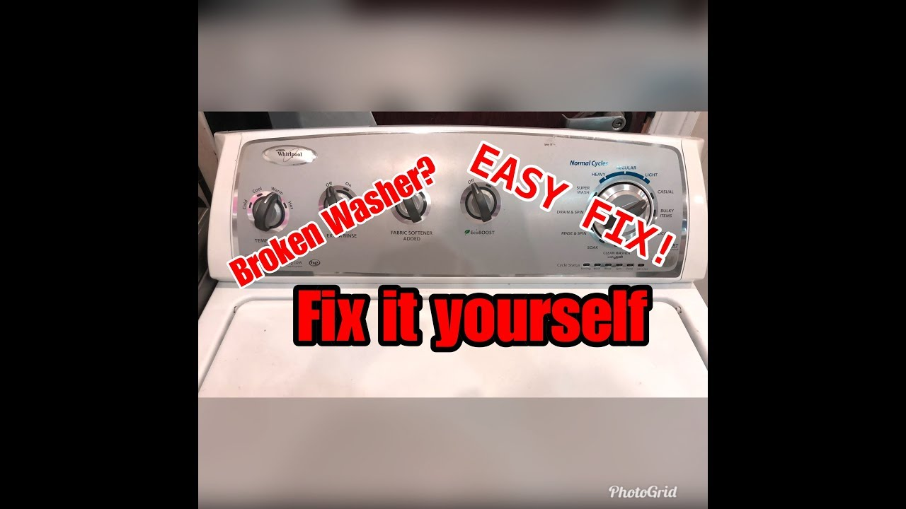 How To Put Your Washer In Self Test Diagnostic Mode (Whirlpool Built)