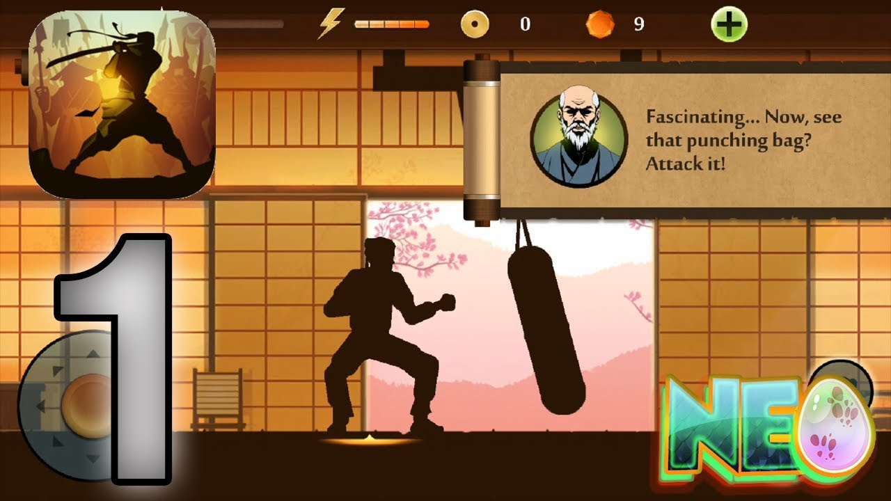 Shadow Fight 2: Gameplay Walkthrough Part 1 – Shadow Training (iOS, Android)