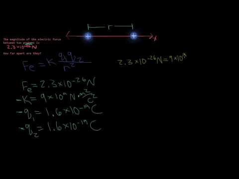 Distance Between 2 Protons - Coulomb