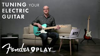 How to Tune a Guitar | Electric Guitar Tuning for Beginners | Fender