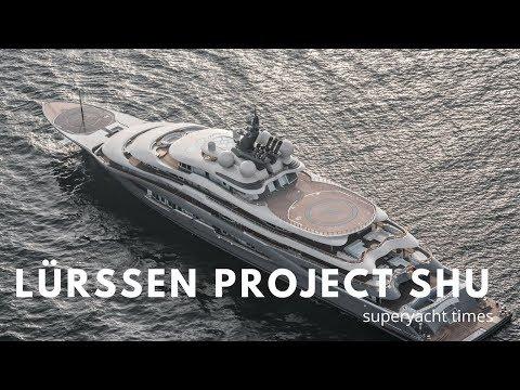 New Lürssen Superyacht SHU undergoing Sea Trials in Germany