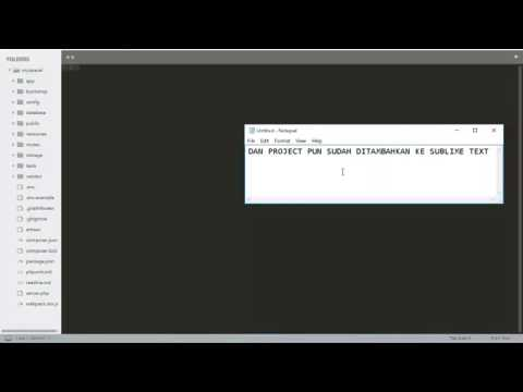 Cara Menjalankan Project Laravel