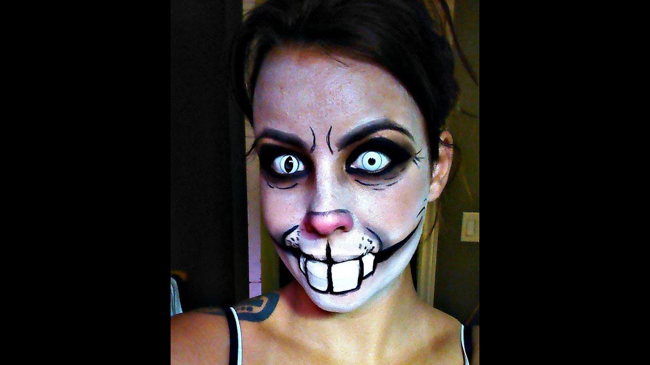 Halloween Series 2015: Creepy Rabbit 2.0 Makeup Tutorial - YouTube