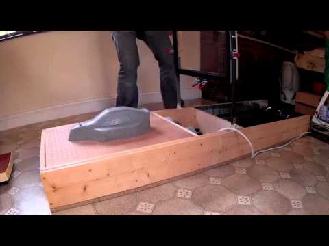 Radio Controlled Car Body Vacuum Forming with Cement Mold rc