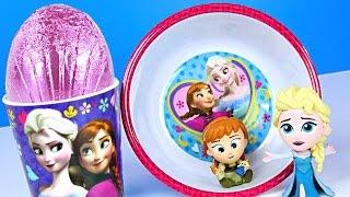 DISNEY FROZEN 3-Piece Mealtime Pink Surprise Egg Kinnerton 4 Frozen Mystery Minis Funko Toys