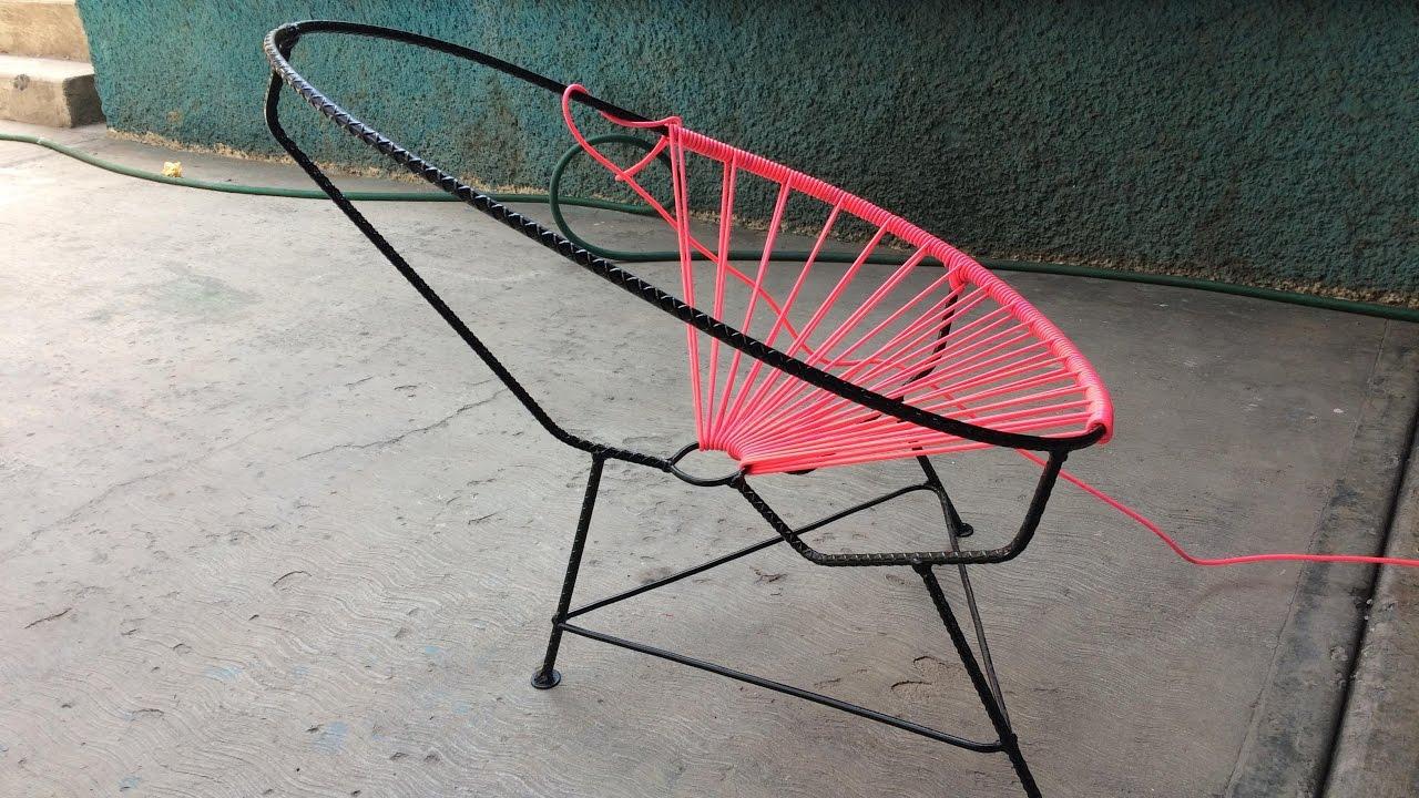 Como hacer una silla acapulco estructura youtube for Como se hace una pileta de material