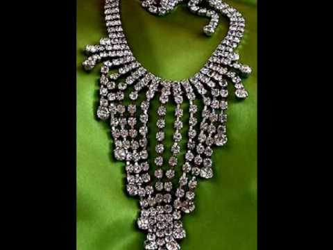 Vintage Costume Jewelry - Vintage Crystal Rhinestone Necklaces