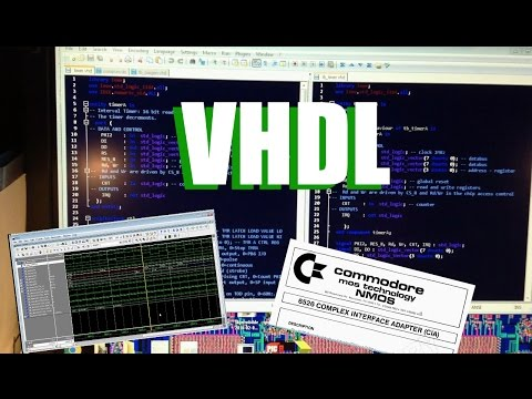 C64 CIA IC in VHDL ? Code and Simulation + C64 Saver batch