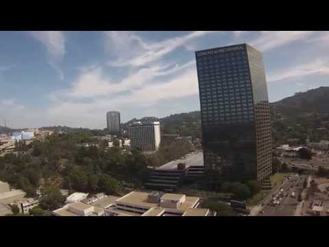 High Altitude View of Universal Studios and NBC Universal Bldg.