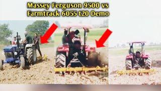 Farmtrack 6055 simple vs Massey Ferguson 9500 pump setting 13 cultivater sirra khda aa veero