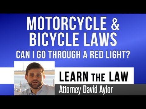 Can I Go Through Red Light on a Bike or Motorcycle? | Charleston SC Defense Lawyer David Aylor