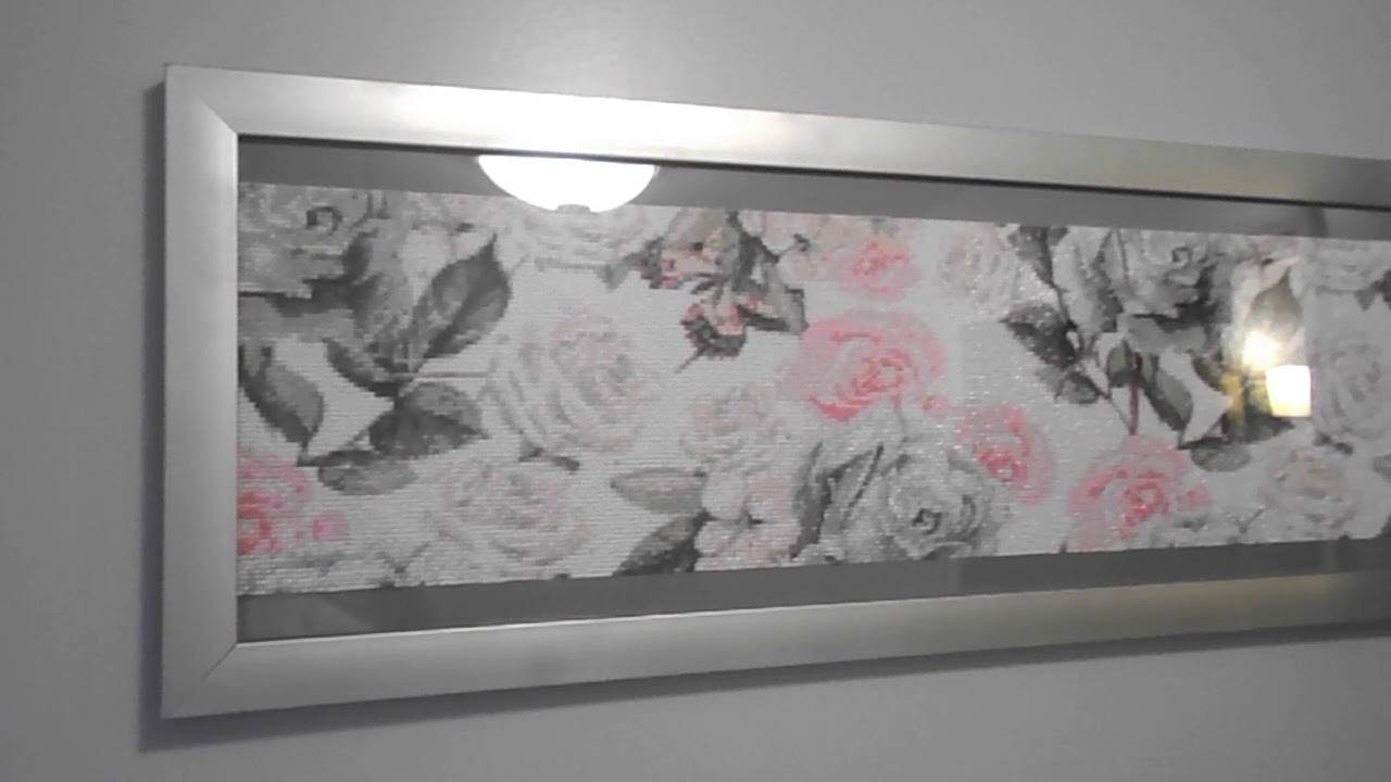 Completed Diamond Painting & Framing: Butterfly Rose Garden - YouTube
