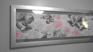 Completed Diamond Painting & Framing: Butterfly Rose Garden