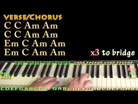 Piano deep piano chords : How Deep Is Your Love (Calvin Harris) Piano Lesson Chord Chart ...