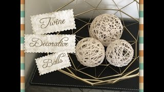 Easy Decorative Twine Balls made with only 3 ingredients