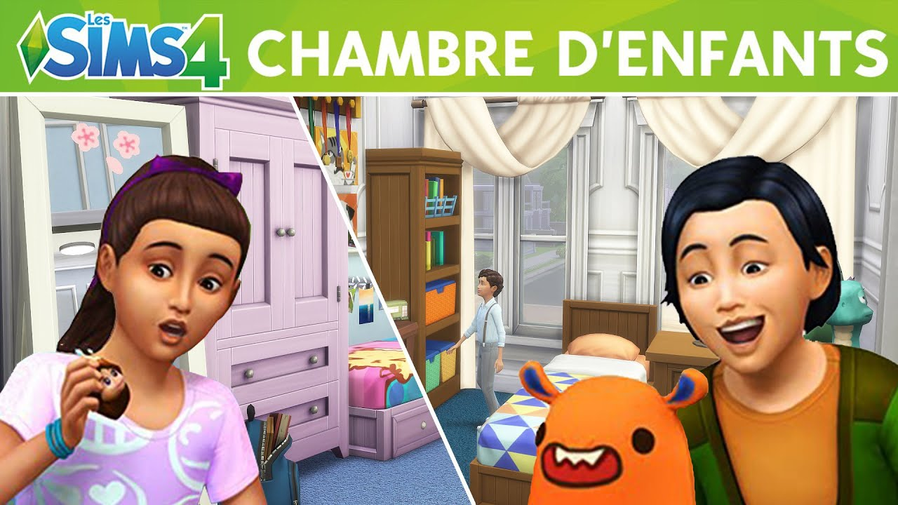 decouverte kit chambre d 39 enfants sims 4 youtube