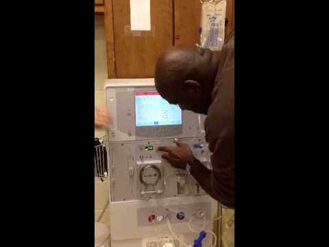 dialysis machine setup
