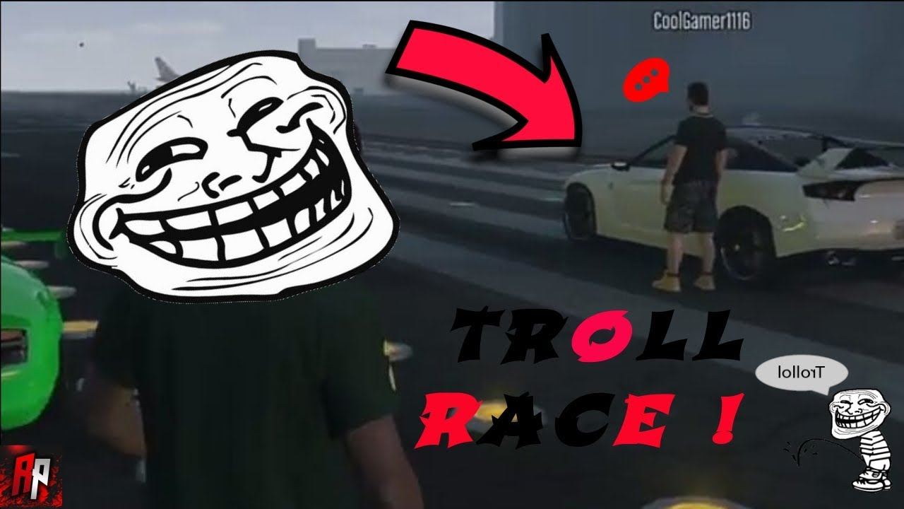 TROLLING RACE CAR ONLINE! (GTA 5 ) - YouTube