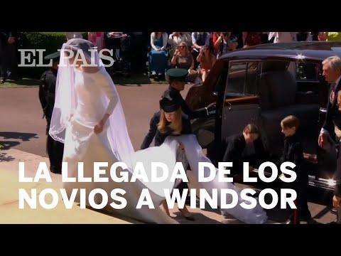 BODA REAL: La llegada de MEGHAN MARKLE y ENRIQUE DE INGLATERRA a Windsor   Gente
