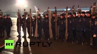 Самолет с телами жертв авиакатастрофы в Египте прилетел в Санкт-Петербург