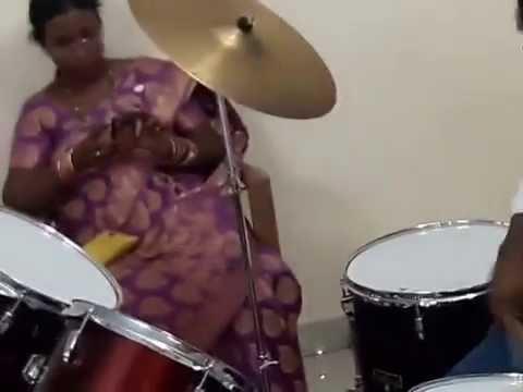 Jazz Drums for Rent at Hyderabad, Telangana -Customer Playing Jazz Drums