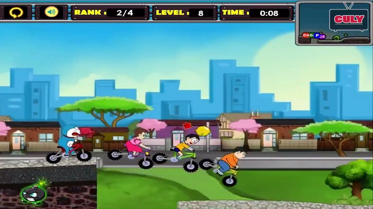 Phá đảo trò chơi Doremon đua xe đạp – Doraemon Racing full gameplay end