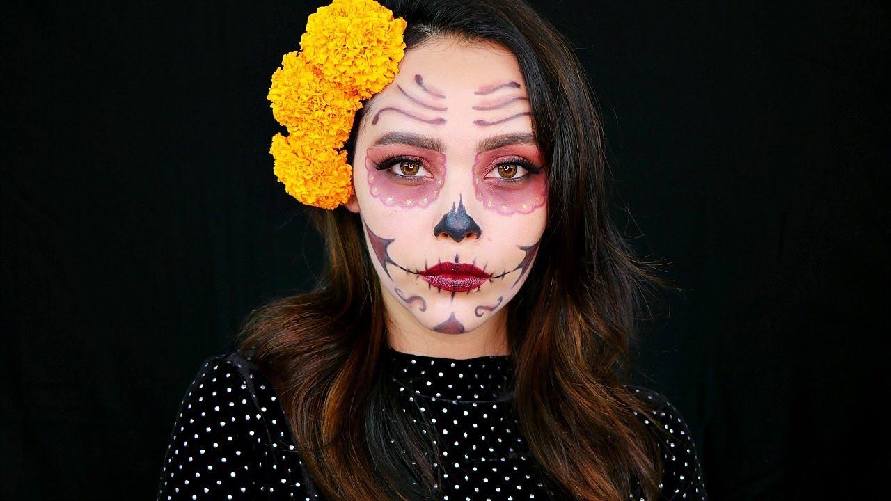 Maquillaje De Catrina Facil Lilia Cortes Youtube