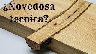 Novedosa Tecnica Leña incrustada en Madera,  explicacion