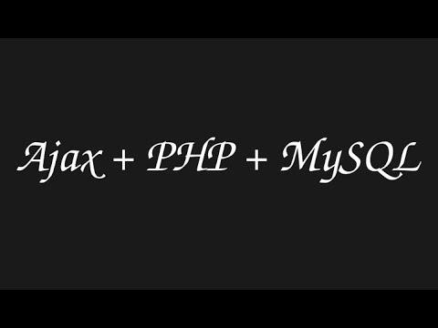 Ajax php CRUD [Create, update, delete] [1/2]
