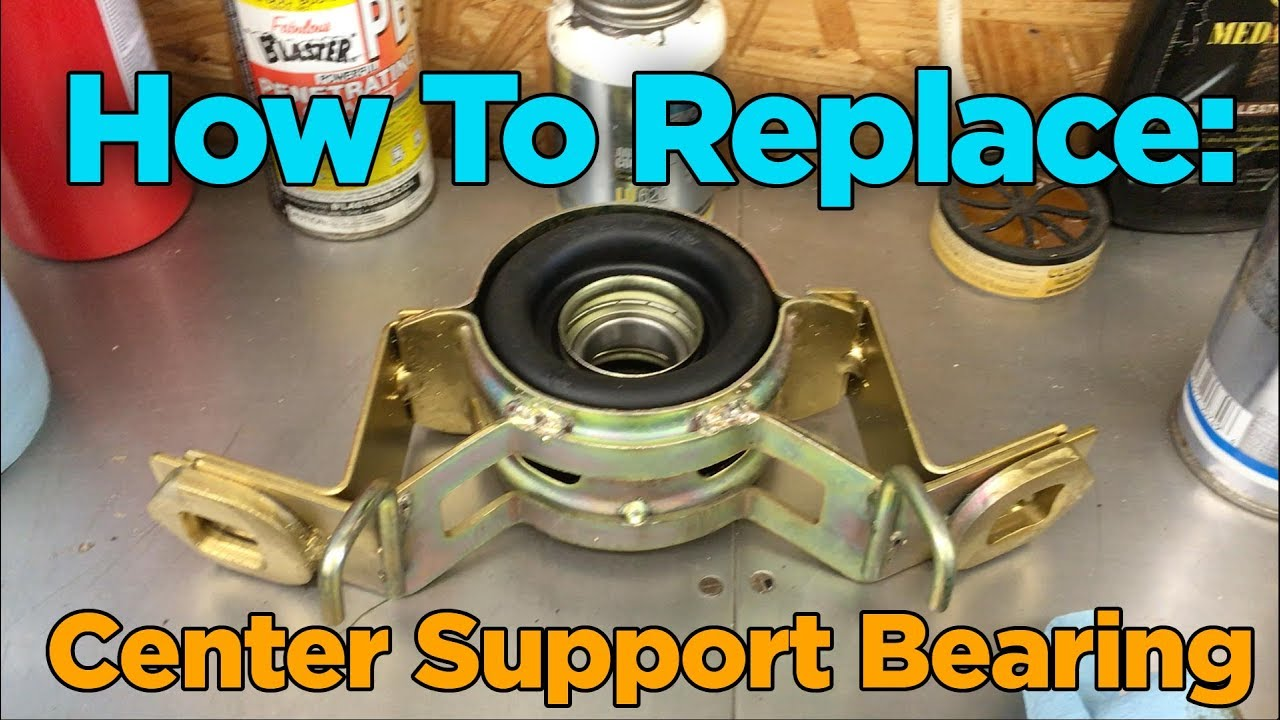diy toyota 4x4 drive shaft center support carrier bearing replacement [ 1280 x 720 Pixel ]